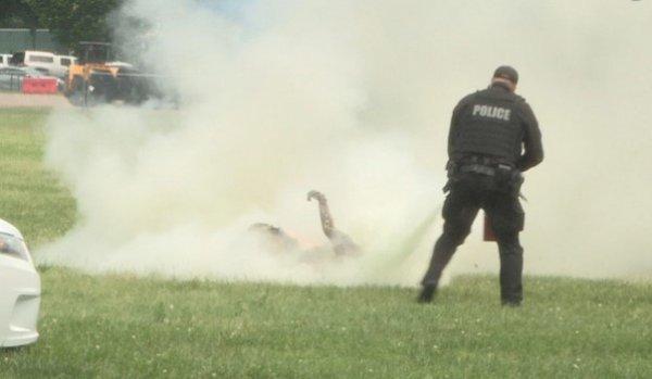 Beyaz Saray yakınlarında bir kişi kendini ateşe verdi