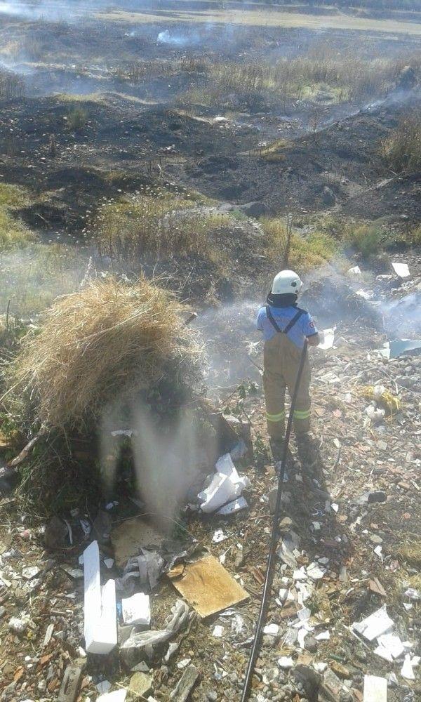Balıkesir'de katı atık depolama alanında yangın