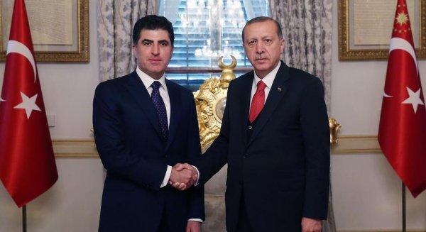 Cumhurbaşkanı Erdoğan, Neçirvan Barzani'yi kutladı