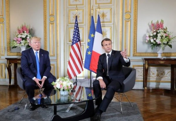 Macron:  We share common objective with US on Iran