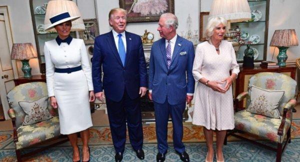 Trump Kraliçe 2. Elizabeth ile buluştu