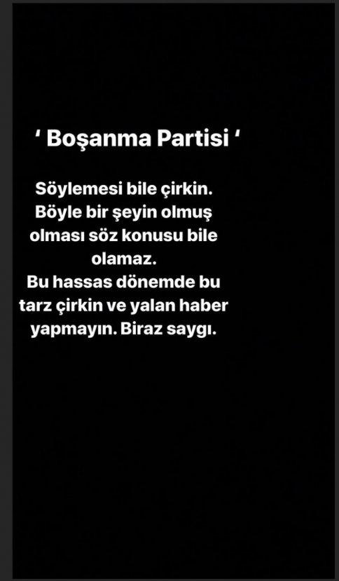 Burcu Kıratlı'dan boşanma partisi açıklaması