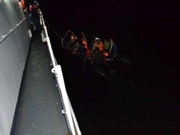 Edirne açıklarında 41 düzensiz göçmen yakalandı