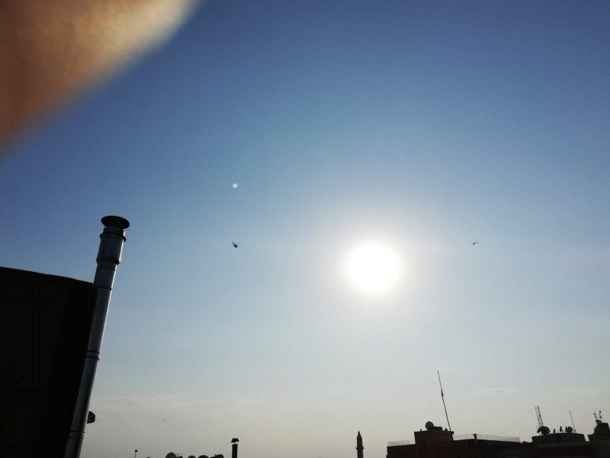 ABD konvoyuna helikopterler eşlik etti