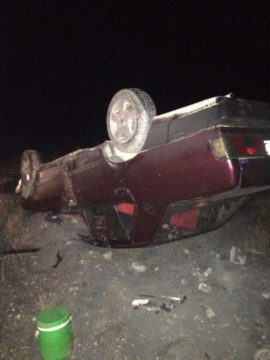 Malatya'da takla atan otomobilin sürücüsü yaralandı