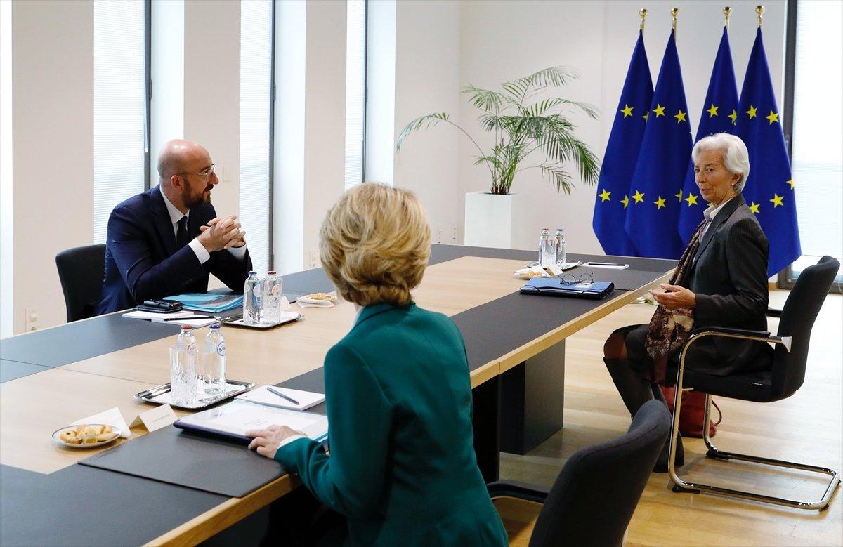 Avrupalı liderlerden 'mesafeli' korona toplantısı