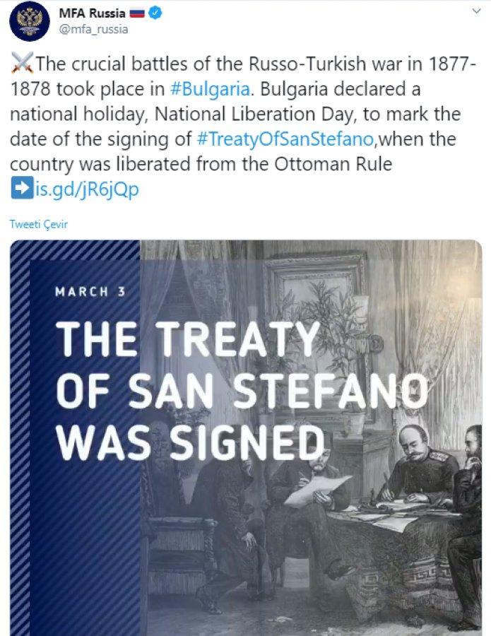 Rusya Dışişleri'nden manidar Osmanlı-Rus savaşı paylaşımı