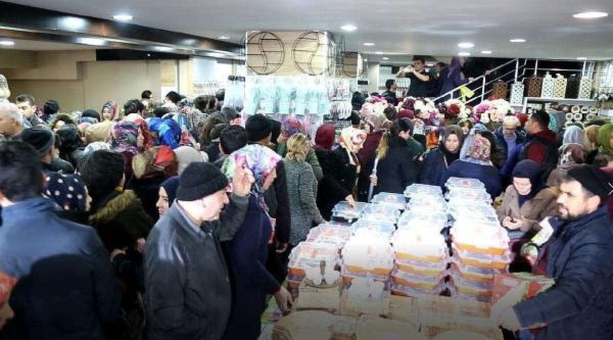 Sivas'ta mağaza açılışında izdiham yaşandı