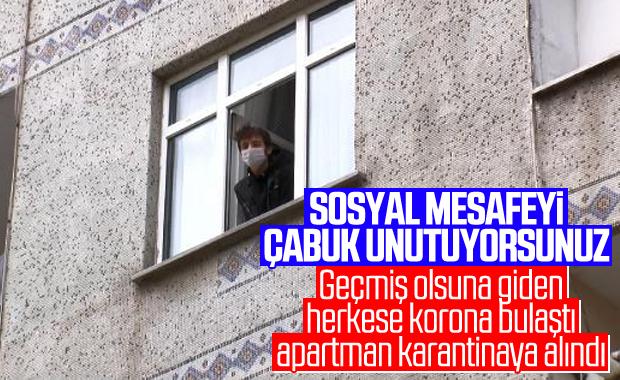 Bakırköy'de hasta ziyareti, apartmanı karantinaya aldırdı