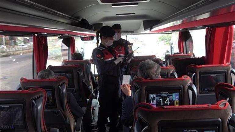 Son dakika haberleri... Otobüsler tek tek durduruldu Tamamı kontrol edildi
