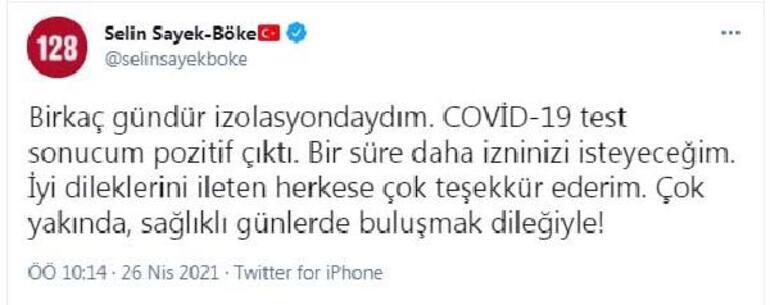 CHPli Selin Sayek Böke koronavirüse yakalandı